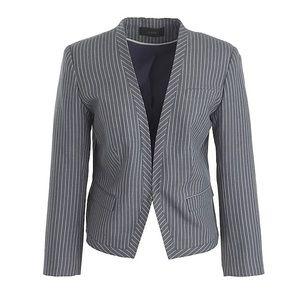 J.crew Cropped Pinstripe Blazer Jacket Size 6